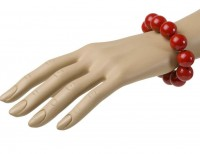 Armband 70er rot