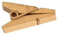 Goldene Holzklammer als Halter