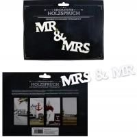 Holzspruch Mr. & Mrs.