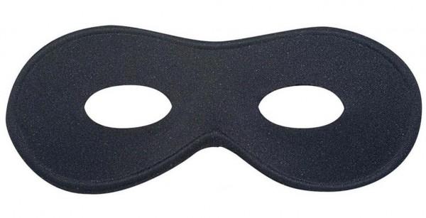 Dominomaske Klassik schwarz