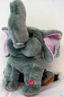 Plüsch Elefant  22cm mit Sound Happy Birthday 3 x AA Batterien exkl.
