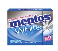 Mentos Gum White Sweetmint 30g Fliptop x 12