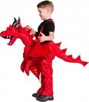 Kinderkostüm roter Drache 3 bis 5 Jahre