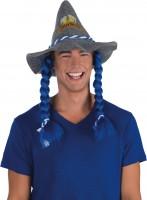 Bierfesthut mit blauem Haar