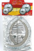 Lampion silber-metal