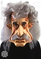 Gesichtsmaske Einstein Karikatur