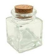 Quadratische Mini-Flasche