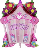 Silberfolienballon Prinzessinen Haus