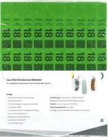 Kontrollbänder Tyvec ab 18 grün