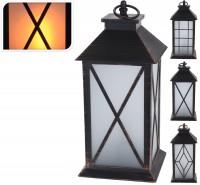 Laterne mit Glasscheiben und LED