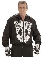 Kapuzenjacke mit Skelettprint M/L