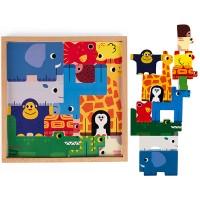 Janod Stapelspiel Tier Puzzle 13tlg.