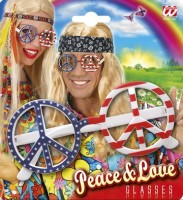Hippiebrille Peace USA