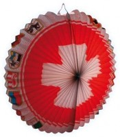 Schweizer Lampion mit Kantonen