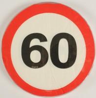 Servietten Verkehrsschild 60 Jahre