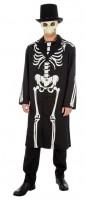 Kostüm Skelett James Bones Grösse XL schwarz