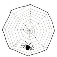 Fasnacht Spinnennetz 40cm mit Spinne