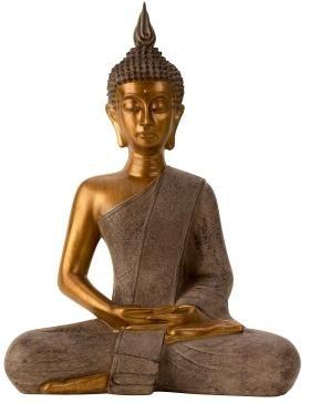 Grau-goldene Buddha Statue