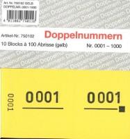 Doppelnummer gelb 120x60mm 1-1000