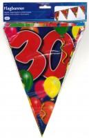 Wimpelkette Birthday Ballone 30 Jahre