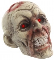 Animierter Zombiekopf