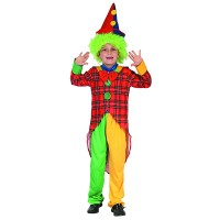 Fasnacht Clown Kostüm bunt Gr. S