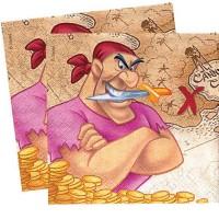 20 Papierservietten Pirat2