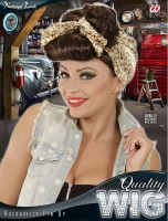 Rockabilly Perücke Pin-Up Girl braun