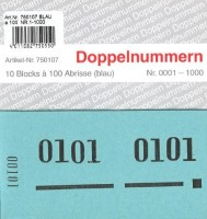 Doppelnummer blau 120x60mm 1-1000