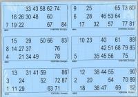 6er Lottoblätter blau