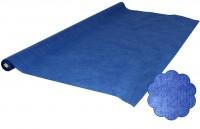 Blaue Tischtuchrolle