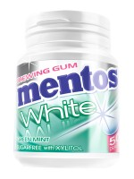 Mentos Gum White Green Mint 75g Bottle x 6