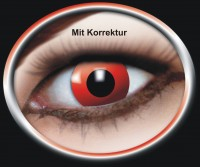 Kontaktlinse Roter Teufel mit Korrektur