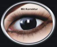 Kontaktlinse Schwarze Hexe mit Korrektur