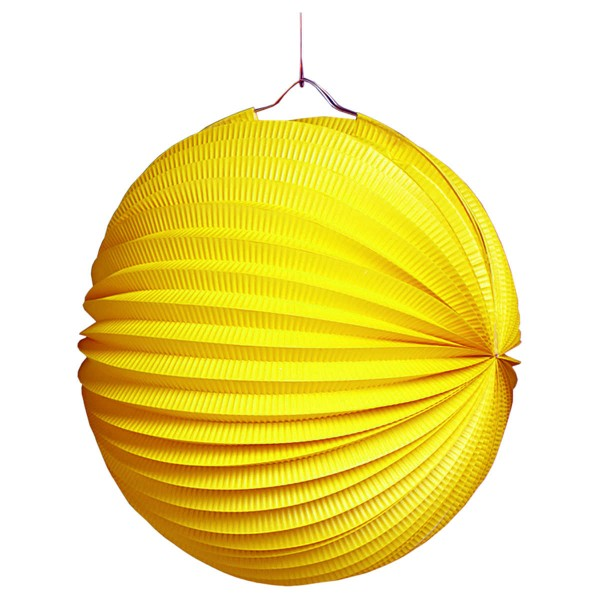 Lampion gelb, rund ø 25 cm
