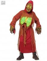 Kostüm Zombieskelett mit Lichteffekt 164cm