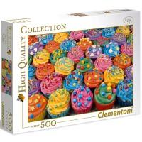 Clementoni Puzzle farbige Cupcakes 500 teilig