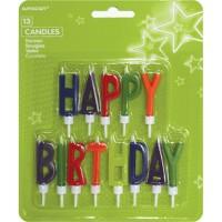 13 Kerzen Happy Birthday