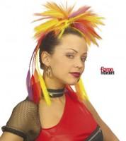Haarteil am Kamm Multicolor