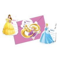 6 Einladungset Disney Princess