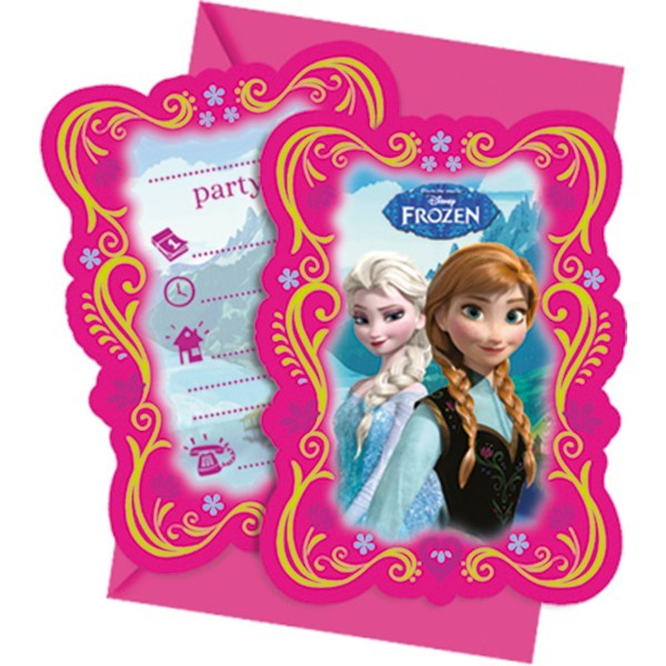 6 Einladungskarten Frozen
