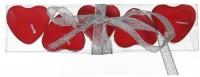 Herz Teelichter rot mit Schleife 5er Set