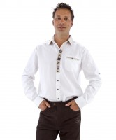 Weisses Trachtenhemd L