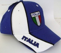 Baseballcap Italien blau/weiss