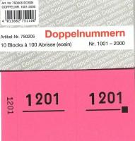 Doppelnummer eosin 120x60mm 1001-2000
