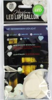 Weisser Herzluftballon mit LED
