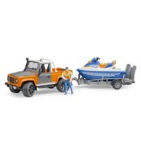 Bruder Land Rover Defender Pick-Up mit Jet-Ski