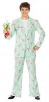 Kostüm Flamingo Disco Anzug Grösse L Jacke und Hose