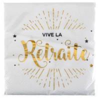Servietten Vive la Retraite