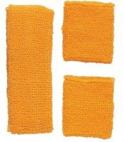 Stirnband- und Schweissbänder Set neonorange
